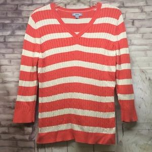 Izod Women Size L V Neck Sweater